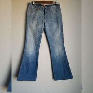 7 For All Mankind A Pocket Flare Jeans 28